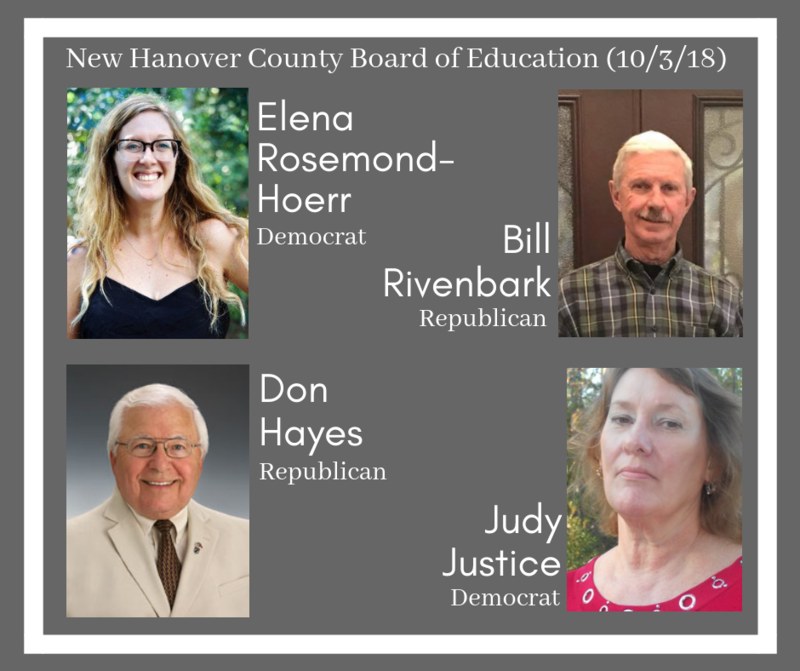 The New Hanover County Board of Education has four open seats this year.