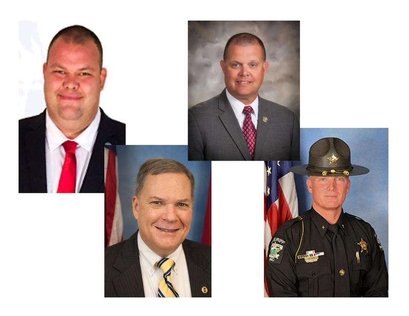 Jerry Benton and Charlie Miller (top row) will sit on Brunswick County's Board of Ed; Marty Cooke continues as a Commissioner, and John Ingram wins reelection as Sheriff
