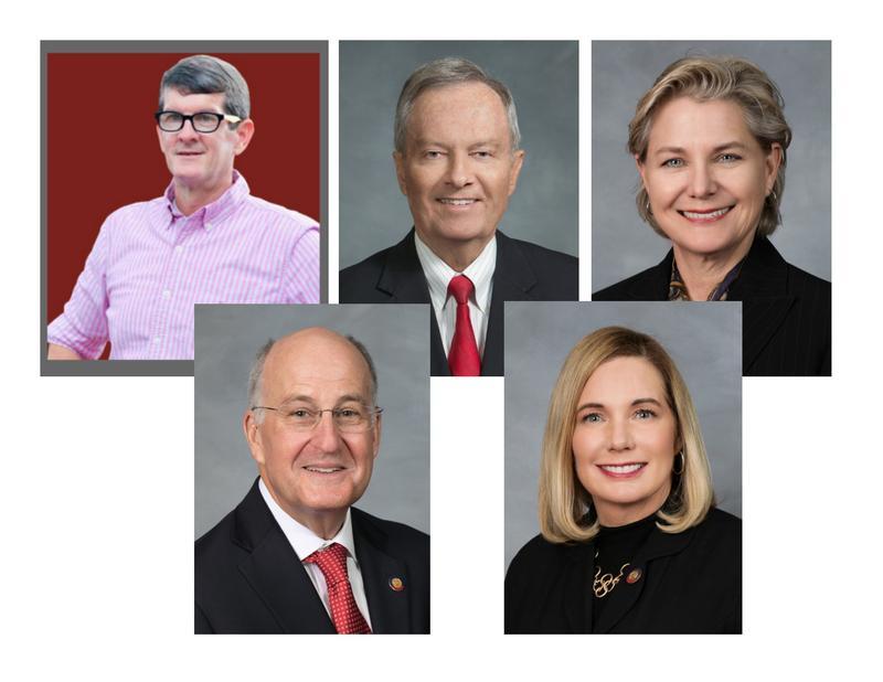 top, l-r:  Carson Smith (R-Pender), Rep. Frank Iler (R-Bruns), Rep. Deb Butler (D-NHC); bottom l-r:  Rep. Ted Davis, Jr. (R-NHC), Rep. Holly Grange (R-NHC)