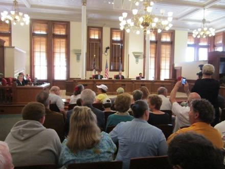 Inside the New Hanover County Courthouse