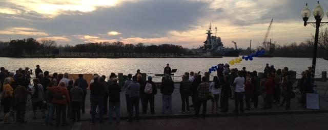 About 100 people attended the Race to the Ballot final rally in Wilmington's Riverfront Park on Friday, March 2.