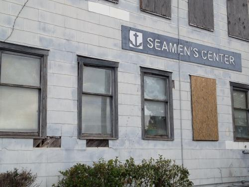 The exterior of the International Seamen's Center at the Port of Wilmington.
