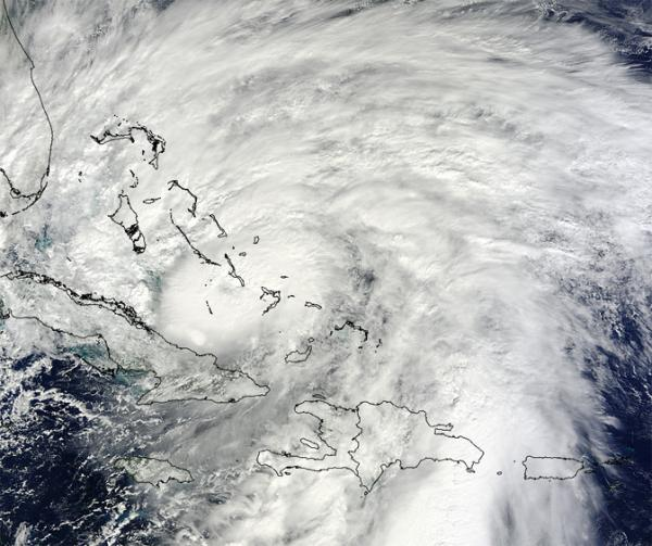 Hurricane Sandy off the East Coast of the U.S.