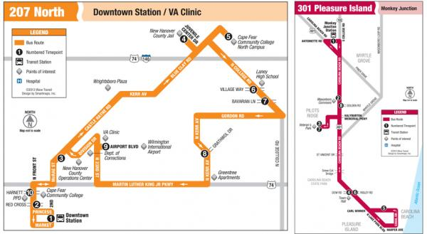 The 207 and 301 bus routes could potentially be cut.