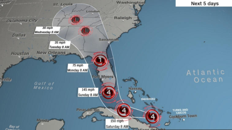 'Nuclear hurricane' Irma track shifts west, posing threat to all of Florida