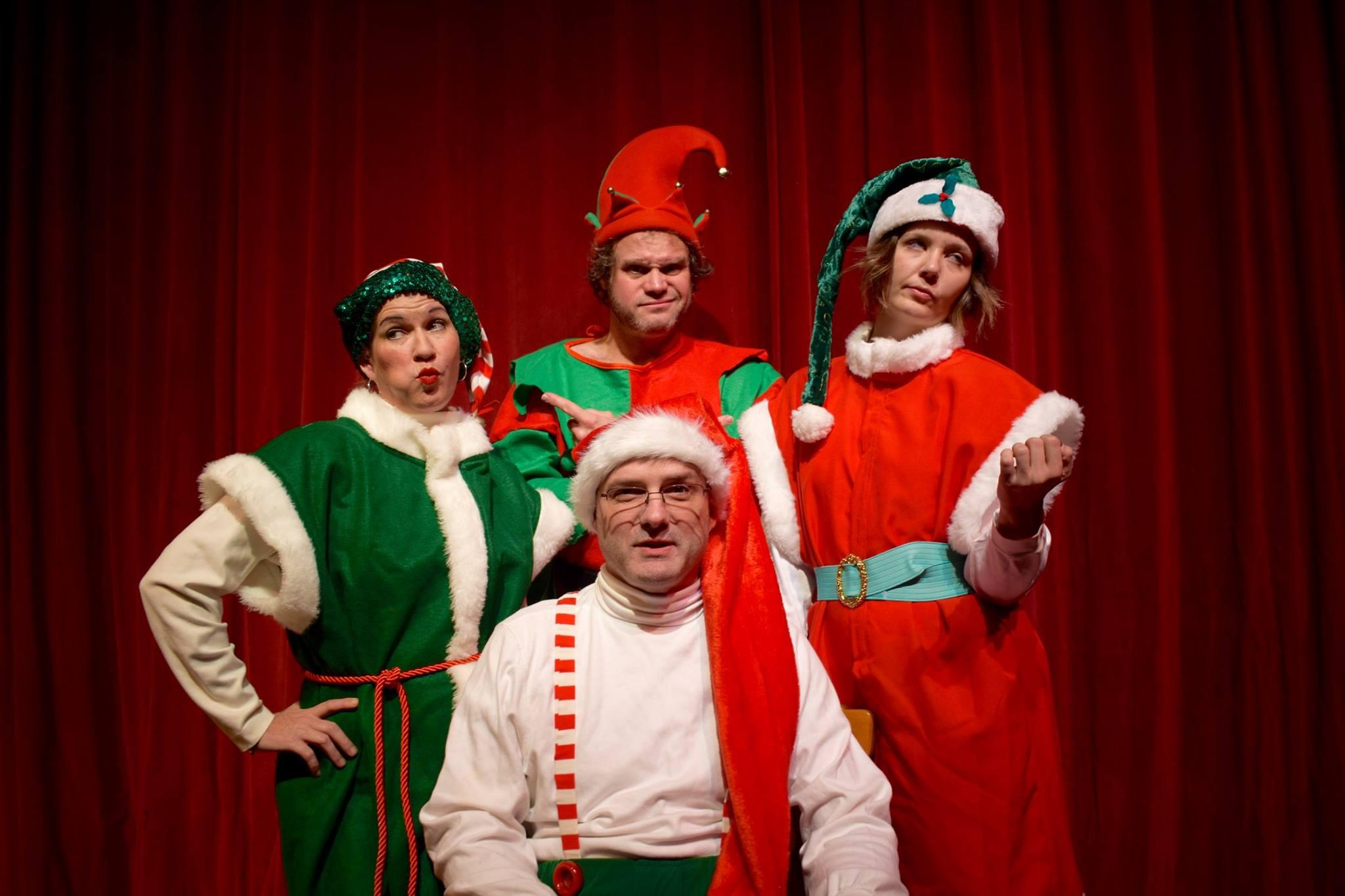 Communique David Sedaris Disgruntled Elf Crumpet Onstage At