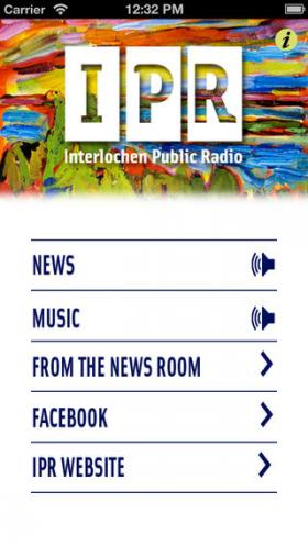 IPR Mobile App Screen Shot