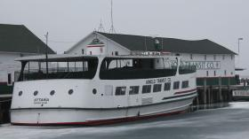 Mackinac Island officials have not heard whether this boat and others owner by Arnold Transit will run this summer.