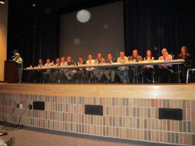 Panelists at the Pipeline Symposium at Petoskey High School