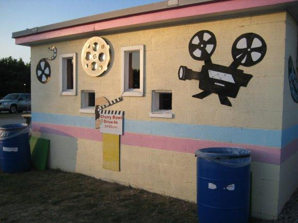 The Cherry Bowl Drive-In's projection booth