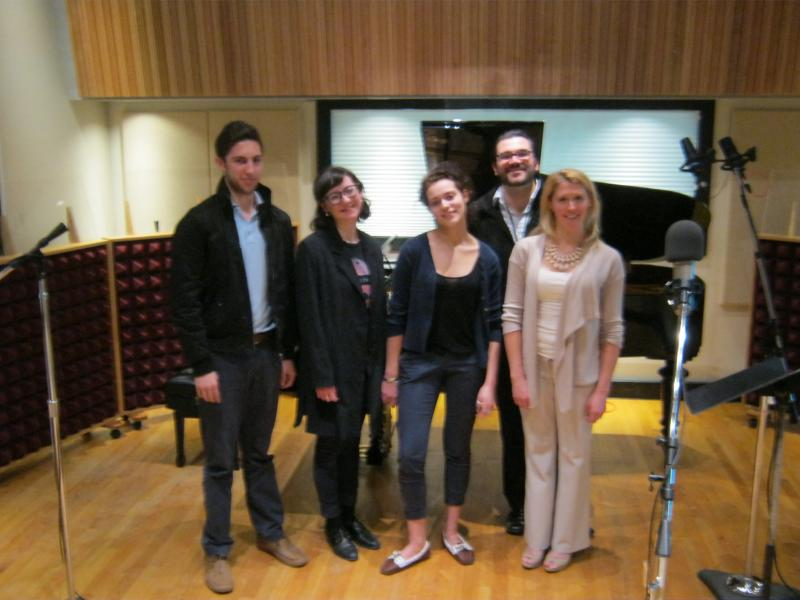 (L-R) Tevan Goldberg, Aliya Ultan, Sage DeAgro-Ruopp, Erin Anderson (in the back - Scott Skiba)