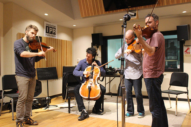 String Quartet Brooklyn Rider performs Live in IPR's Studio A.