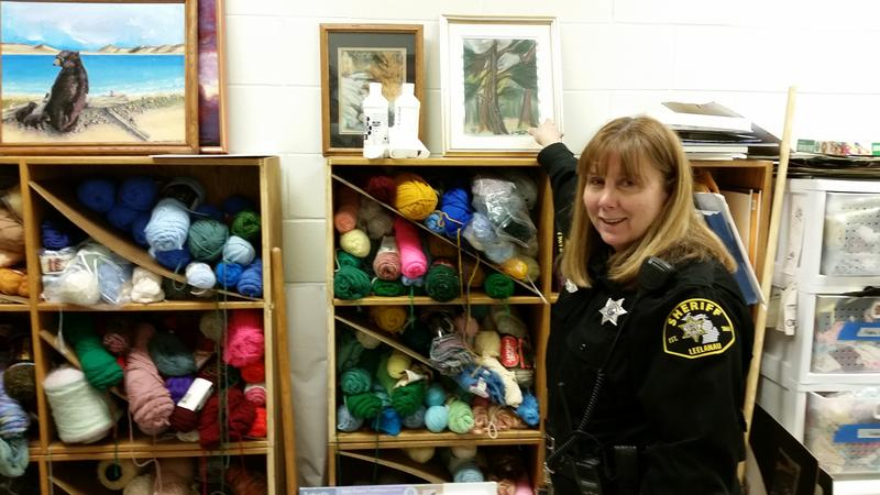 Deputy Diane Speas, inside the art room at Leelanau County Jail.