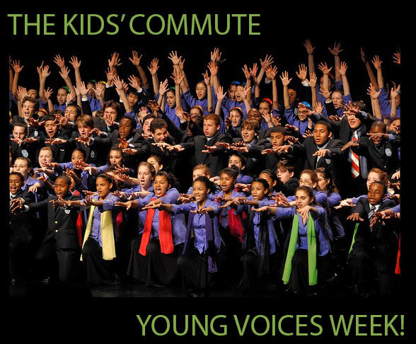Join us this week for Young Voices on the Kids' Commute! Pictured: The Young People's Chorus of New York City.