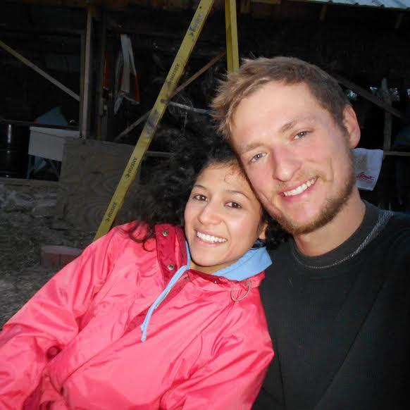 Levi Meeuwenberg and his fiancé Brenda Baran, of Realeyes Homestead in Traverse City.