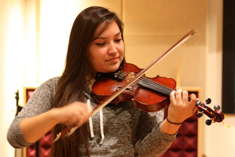 Ruby John performs in many fiddle styles, including Métis.