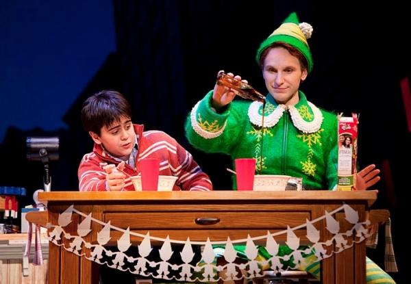 Buddy shows Michael the four main food groups: candy, candy canes, candy corn and syrup. It's ELF: THE MUSICAL and more on the Christmas edition of Show Tunes with Kate Botello!