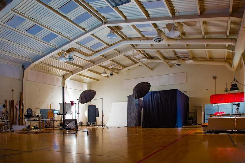 John Robert Williams converted an old elementary school gym into his new studio.