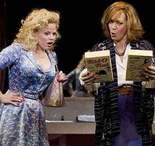"Megan Hilty as Doralee (our, ""Backwoods Barbie,"") and Allison Janney as Violet in 9 TO 5: THE MUSICAL"