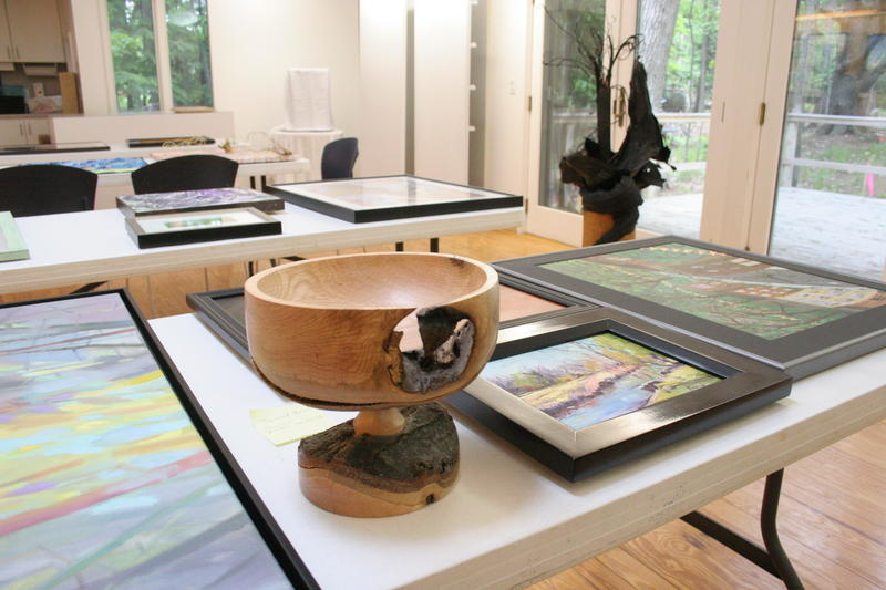 A bowl carved from a tree that was downed by last year's August 2nd storm in Glen Arbor is one of the pieces waiting to be displayed in a new art exhibit at the Glen Arbor Art Association. The exhibit focuses on artists' interpretations of the storm.