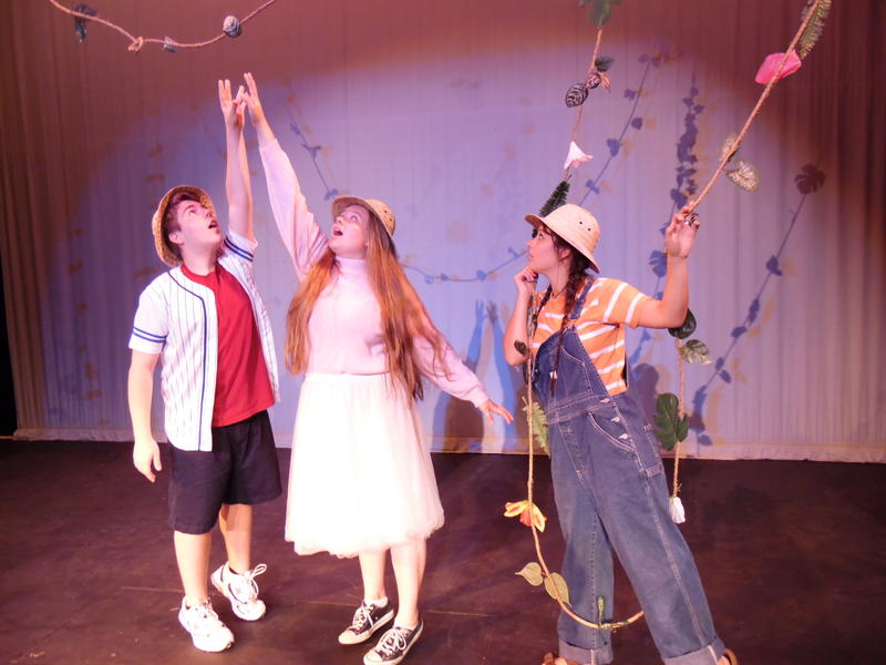 From left: Richard (Kyle Carter) Vickie (Macie Goodspeed) Janet (Madi Shank)