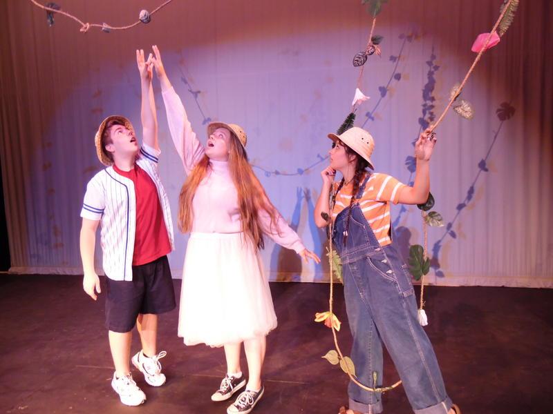 From left: Richard (Kyle Carter) Vickie (Macie Goodspeed) Janet (Madi Shank)