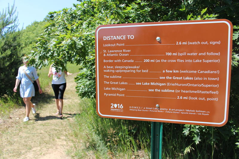 A sign located at the Bay View Trail.