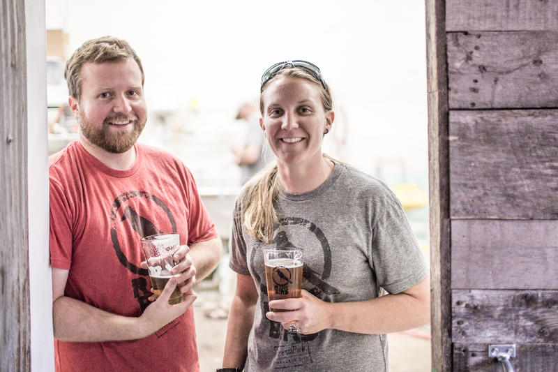 Rare Bird Brewpub co-owners Nate Crane and Tina Schuett. Tina says when they were planning the brewpub, there were only about five other breweries in the Traverse City area. Now, there are more than 10.