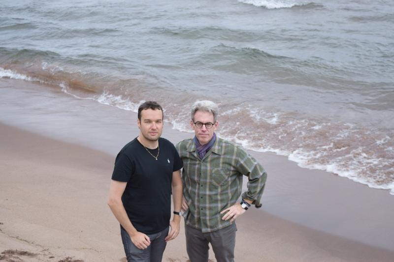 Composer Eugene Birman (left) and librettist Scot Diel on the shores of Lake Superior in the Upper Peninsula. The two artists created a contemporary opera that had its U.S. premiere in Marquette, Michigan.