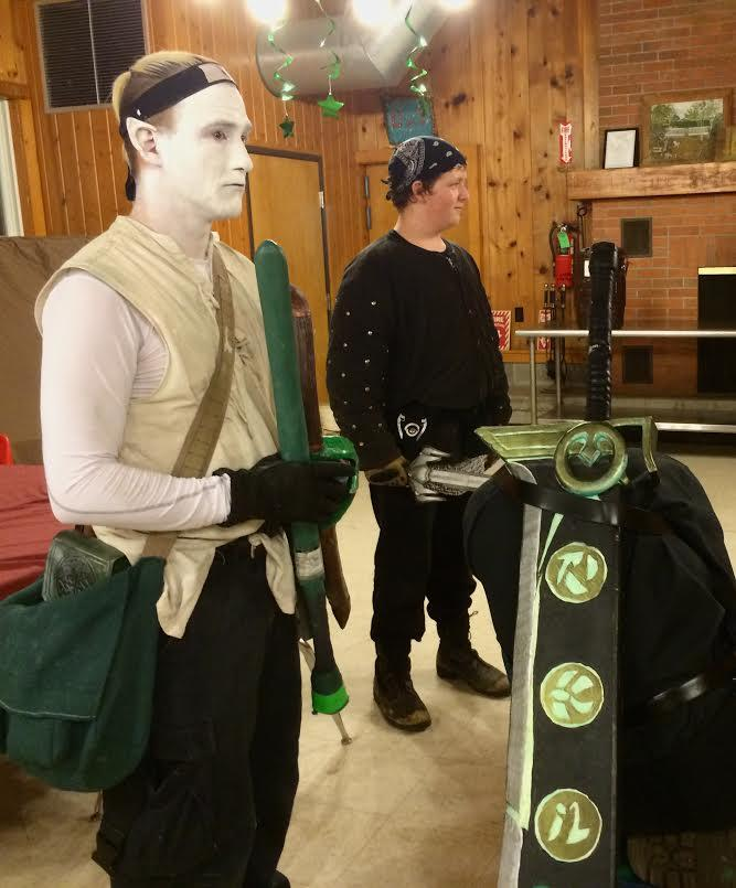 Two LARPers, or Live Action Role Players, during a recent get-together in Traverse City.