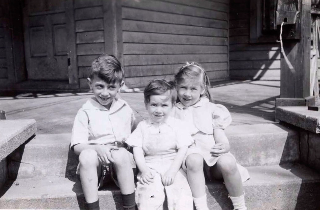 The Adler children in the 1940's. The eldest, Steve, and their parents were Holocaust survivors who fled Vienna and landed in Traverse City in 1939. From left: Steve Adler, Bob Adler and Lil (Adler) Ostendorf.