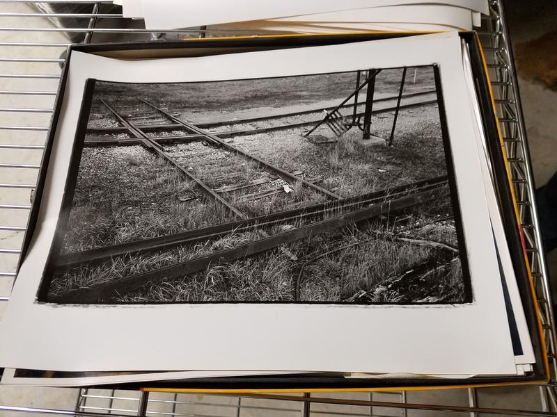 A shot of the railroad tracks that used to be located near the location of the Traverse Area District Library.