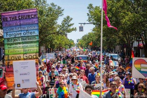 Jenn Cameron says 3,000 people gathered for the UpNorth Pride march in 2016.