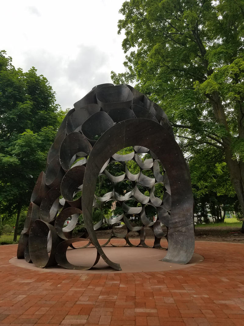 "A new sculpture titled ""Enspire"" will be unveiled in Traverse City's Lay Park, Tuesday afternoon. The piece of art memorializes Bryan Crough, who was a longtime executive director of the Traverse City DDA."