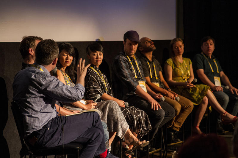 Filmmakers talk about documentary film during the 2017 Traverse City Film Festival.