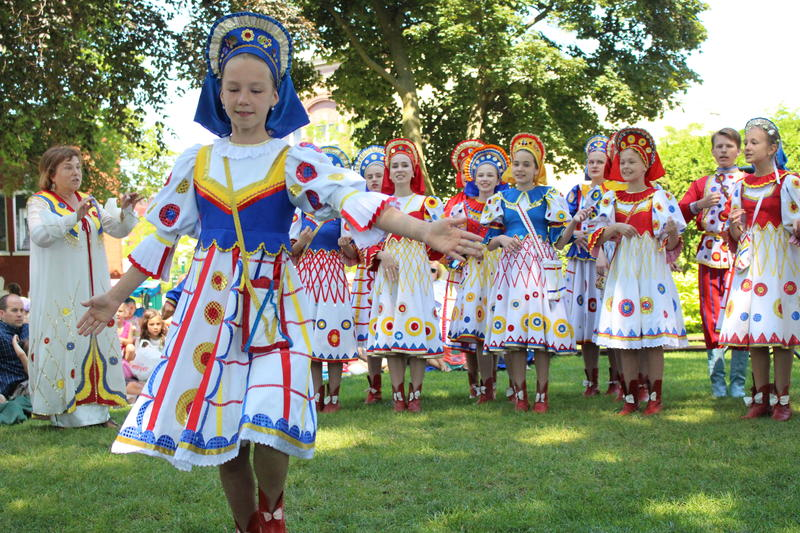 The Little Eagles of Siberia, a childrens choir from Siberia, performs at Pennsylvania Park in Petoksey.