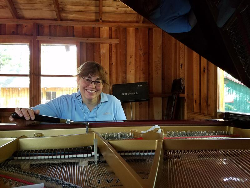 Jessica Masse has been tuning and caring for pianos at Interlochen Center for the Arts for eight years.