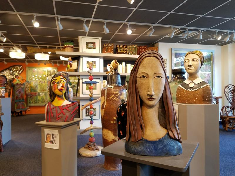 """Busted"" is a new show at Michigan Artists Gallery in Traverse City. It features ceramic busts of women who were portrayed by well-known artists."