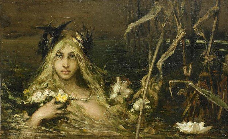 Kids Commute Mermaid Week! Rusalka, by Wilhelm Kotarbiński.