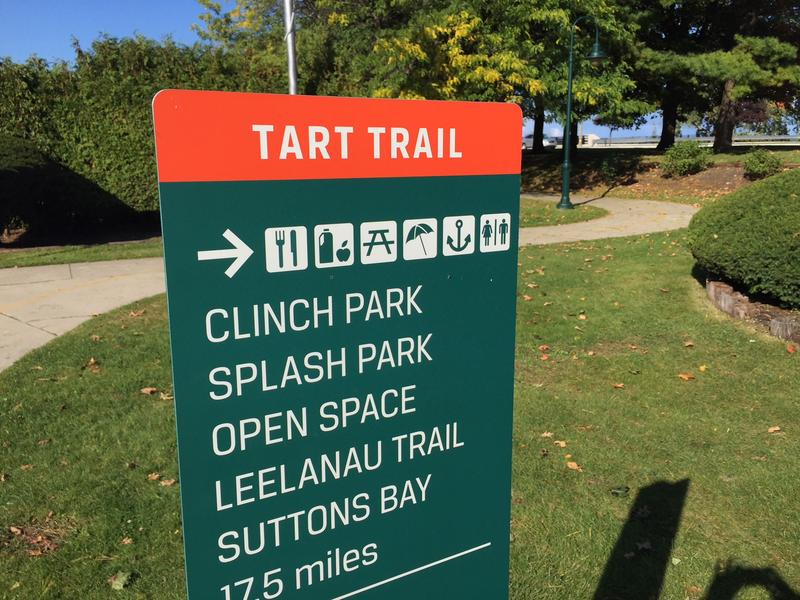 The TART Trail winds its way through downtown Traverse City.
