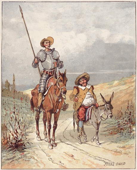 "Kids Commute Ep. 53, Don Quixote Week: ""Dialogue Between Knight and Squire."" (Pictured, Don Quixote with Sancho Panza.) Interlochen Public Radio - classical music for kids!"