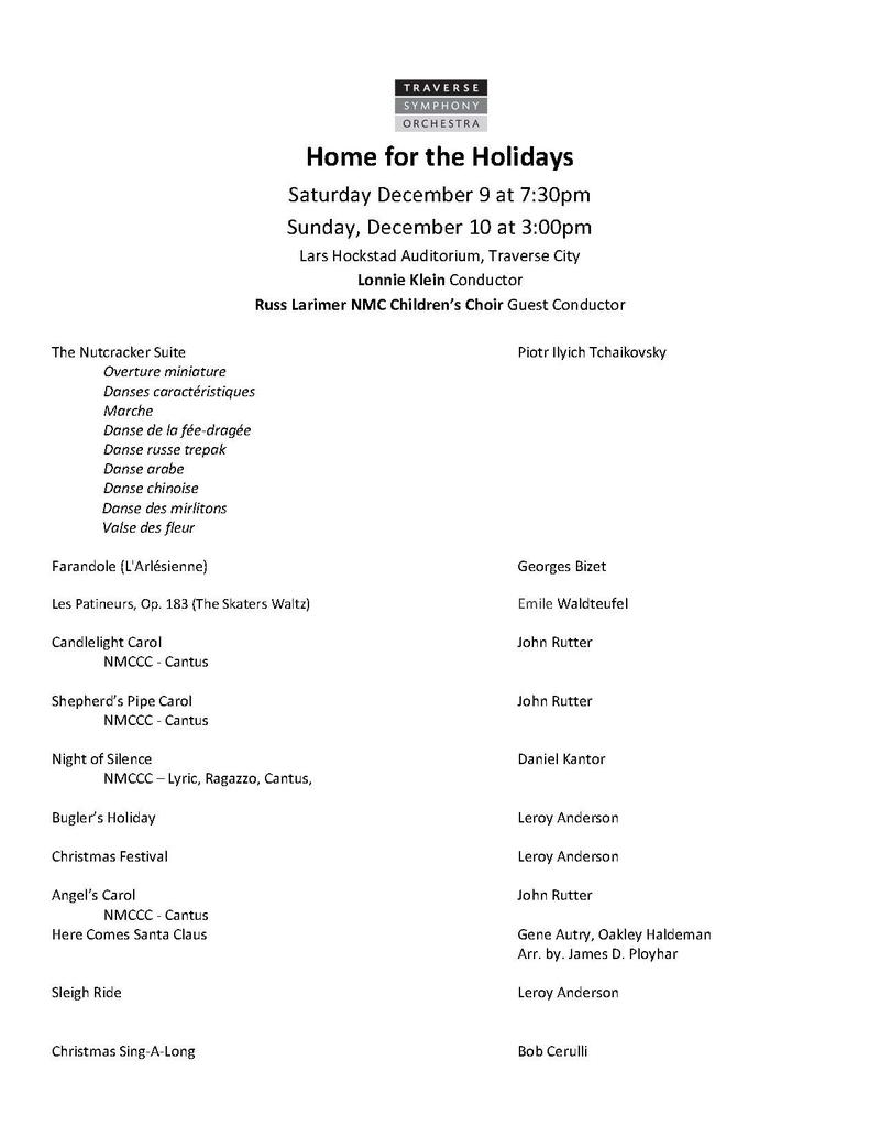 Christmas Day from Northern Michigan: Traverse Symphony Orchestra\'s ...