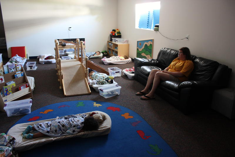 Children nap at Angel Care Preschool in Traverse City.