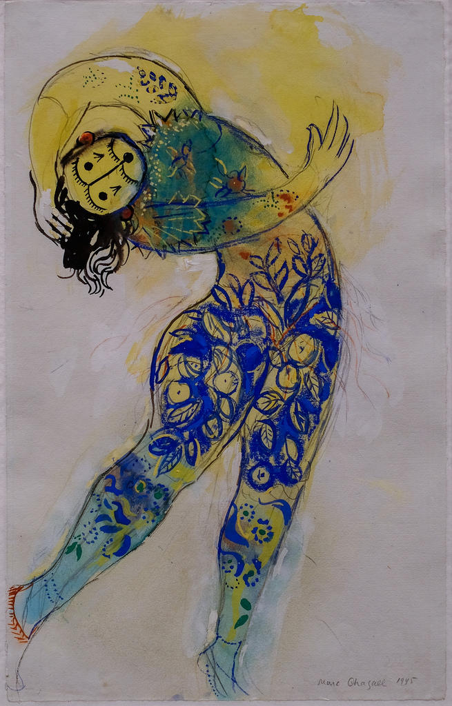 A costume design for one of Koschei's Guardian Monsters by Marc Chagall, 1945. Interlochen Public Radio - classical music for kids!
