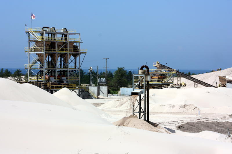 Sargent Sand Company's mine operates within the boundaries of Ludington State Park.