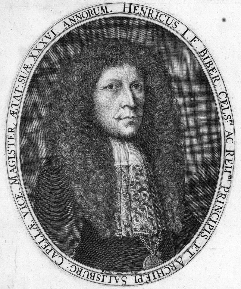 This week's composer, Heinrich Biber (1644-1704)