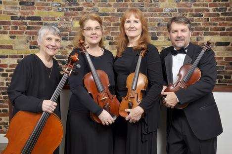 The Cummings Quartet (L-R): Liz Bert, Kim Teachout, Cheryl Zetterholm and David Reimer