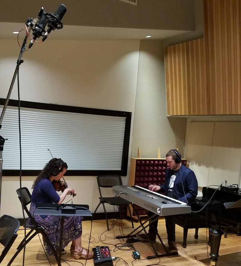 "Tenth Intervention (Hajnal Pivnick and Dorian Wallace) perform their own music for the BBC documentary series, ""Planet Earth,"" in Studio A."