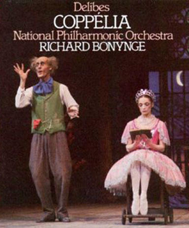 Dr. Coppelius and his daughter Coppelia, who sits in a chair and reads.. all day. This is the album cover for the recordings we're hearing this week! Interlochen Public Radio - classical music for kids!