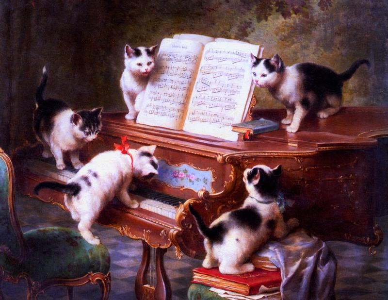 "Somebody cover the piano! We've got a, ""Kitten on the Keys!"" Interlochen Public Radio - classical music for kids!"